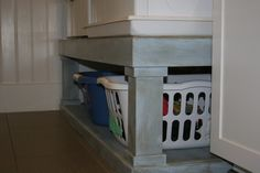 Ana White's washer & dryer pedestal with AS chalk paint