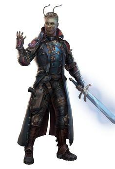 Lin Camulan, Lashunta Sentinel Soldier - Starfinder RPG (Dead Suns 1 Art)