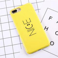 Smiley Nice Cute Clean Cartoon Cases for Apple iPhone 6 - S / Plus, 7 - Plus