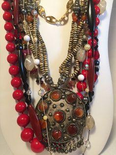 Vintage Jewelry Lot 7 necklaces 4 bracelets by VintageFlowerTop