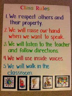 """Class rules - On the first day brainstorm with class what a great classroom """"looks like, feels like, sounds like"""". Have them work in groups to come up with a list of behaviours that will achieve this great classroom. Groups share with the class & then combine them under common names. Write up your class code of conduct (or class rules) & then display in your class. Also clearly display what the consequences will be if they don't follow these rules. Students like to know what is expected of…"""
