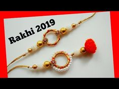 Learn with me how to make a beautiful rakhi pair for bhaiya bhabhi Diwali Decorations, Flower Decorations, Quilling Rakhi, Twine Crafts, Paper Crafts, Handmade Rakhi Designs, Rakhi Making, Making Fabric Flowers, Crochet Curtains