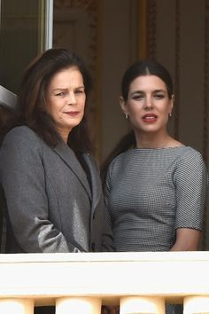 Princess Stephanie of Monaco and Charlotte Casiraghi attend the official presentation of the Monaco Twins on 07.01.2015 in Monaco, Monaco