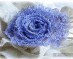Terry Rose Brooch - wet felting technique