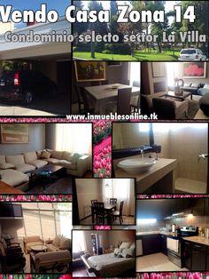 Vendo Casa Zona 14 Condominio selecto Sector La Villa  3 Dormitorios 2.5 Baños 2 Parqueos Pergola, balcon, sala familiar, cocina granito, desayunador, condominio muy exclusivo de familias en su mayoria propietarios. Totalmente remodelada con acabados de primera. Condominio con garita, pared perimetral y parque propio con areas verdes e infantiles. Venta $262,500 Visitas 42387726 31032365 anaurrutia@live.com www.inmueblesonline.tk Like en Facebook Bienes Inmuebles GT