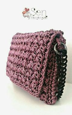 You love it and made it best seller! Our posh crochet clutch bag available in many colors in our eshop! Crochet Clutch Bags, Crochet Wallet, Crotchet Bags, Bag Crochet, Crochet Handbags, Crochet Purses, Knitted Bags, Crochet Stitches, Crochet Patterns