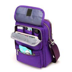 Women Nylon Travel Passport Bag Crossbody Travel Bag Useful Shoulder Bag