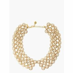 Pearl collar necklace from Kate Spade. Elevate a basic sweater from everyday to party ready with this beauty!