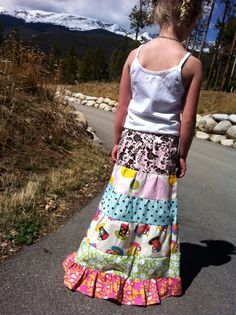 time for tea long layered boutique twirl skirt. $48.95, via Etsy.