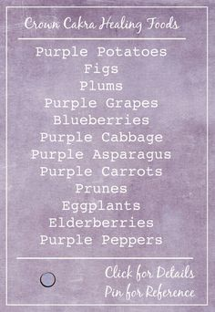 crown chakra healing foods