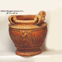 Bouquet Urn Copy G-2046 Design Rustique, Mediterranean Garden, Garden Fountains, Cast Stone, Urn, Cement, Outdoor Living, Roman, Greek