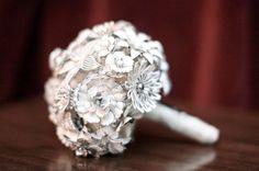 White Brooch Bouquet