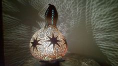 Was 60 USD / SOLD OUT    Worldwide shipping available HANDMADE AUTHENTIC GOURD LAMP KURBIS LAMPE  LAMPE DE ZUCCA  Custom orders welcome.  Please visit www.marmarisgeceleri.blogspot.com www.instagram.com/gourd_lamp    To order : antalyakabakevi@gmail.com