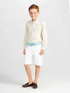 Oscar de la Renta - Check Cotton Long Sleeve Dress Shirt