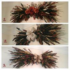 Eucalyptus Swags, XLARGE Dry Floral Wreath, Grapevine Wreath, Fall, Autumn, Any Season, Eucalyptus, Over Door, Window Swags, Custom Made by GiftsByWhatABeautifu on Etsy