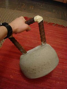 kettle bell made of concrete! so much cheaper!