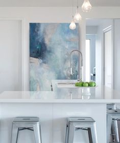 Julia's Contemporary Abstract Art Showcased in Situ – Julia Contacessi Fine Art Landscape Artwork, Abstract Landscape, Artwork For Home, Contemporary Abstract Art, Interior Decorating, Home Appliances, Fine Art, The Originals, Painting Canvas
