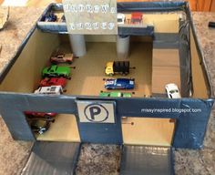 making a garage for kids cars - Google Search