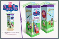 "Cajas para Cotillones Personalizadas ""Peppa Pig""   Lythium Art®"