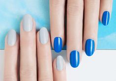 Two Shades of Blue by JINsoon | Sephora Beauty Board #Sephora #nailart