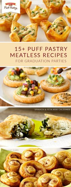 Eating your veggies is fun when you have these Pepperidge Farm® Puff Pastry Sheets meatless recipes to choose from. Perfect for graduation parties, backyard cookouts, or when hosting dinner guests, vegetarian dishes like Onion Potato Tartlets, Grilled Veggie Puff Pizza, and Crab Strudel are always a delicious choice.