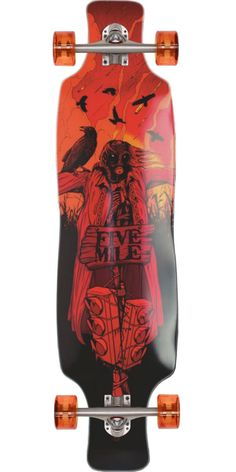 Five Mile Scarecrow Longboard Skateboard Complete - Medium Flex