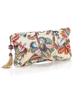BLOOM OF THE ORIENT SHIMMER CLUTCH BAG