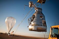 Read about Felix Baumgartner, the attempting attempting to jump from the stratosphere, the highest altitude ever, and break the sound barrier. Click for blog post: 'Red Bull's Journey from space'