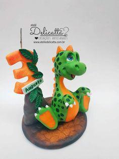 Dinosaur Birthday Cakes, Cute Birthday Cakes, Dinosaur Cake, Birthday Party Themes, Dino Cake, Fondant Animals, Cold Porcelain, Kids Decor, Food Art