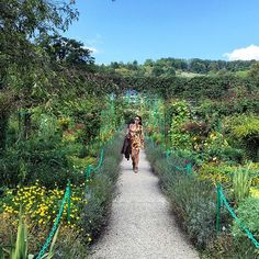 Stephanie Khouy is half French/half Cambodian, a Fashion PR with gorgeous instagram photos to follow at mlleadubai. A peek inside her fashion world across the globe and in exotic locales. Pictured here in Jardins De Claude Monet Giverny