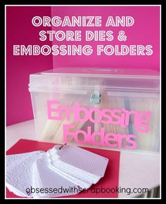 [Video]How to Organize and Store Embossing Folders and Dies with Close to My Heart Organizers #organization #quicktips