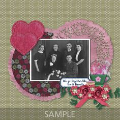 """CT layout made using Memory Mosaic's """"We Go Together"""". We Go Together, Better Together, Scrapbooking Layouts, Digital Scrapbooking, Confirmation Page, My Other Half, Paint Shop, Photoshop Elements"""