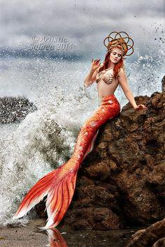 The Koi Queen by AtristicSolace #TheKoiQueen #koimermaid #mermaid #mermaidginger #gingermermaid #SheroesEntertainment #Finfolk #FinfolkProductions #mermaidtail