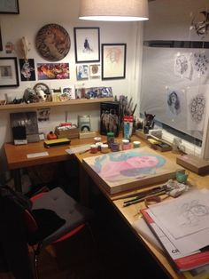 my art studio, painting studio, studio room, home studio, art studio Home Art Studios, Art Studio At Home, Studio Room, My New Room, My Room, Artist Workspace, Cool Office Space, Art Studio Organization, Painting Studio