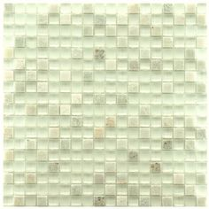 The rich texture of this unique stone mosaic tile is the perfect complement to any wall or floor. The tile alternates between tumbled stone and glass for a look that will add a dynamic touch to a kitchen backsplash or a bathtub surround.