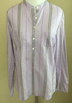 New EDDIE BAUER Stripe Tunic Top Shirt Sz M Medium TALL Women's Long Sleeve #EddieBauer #Tunic