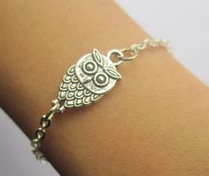 Braceletantique silver owl bracelet& sliver by highjewelry2012, $3.50