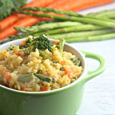 A farmer's market favorite, this fast and easy Vegetable Risotto recipe is an elegant dish, perfect for weeknight meals or special occasions. 35 min start to finish!