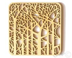 Abstract Swirl Design Laser Cut Wood Coaster Set of 6 with Holder Laser Cnc, Laser Cut Wood, Laser Cutting, Laser Cutter Ideas, Laser Cutter Projects, Dremel, Wood Projects, Woodworking Projects, Sous Bock