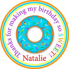 Donut Party  Printable Favor Tags   Donut Fun Party by 10candles, $6.00