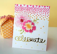Celebrate Card by Danielle Flanders for Papertrey Ink (June 2015)