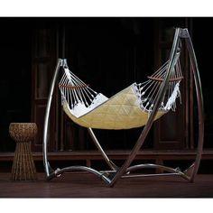 The Unity Hammock by Trinity Hammocks is one of the most elegant hammocks in the world.  #HammockTown #TrinityHammocks  https://hammocktown.com/collections/trinity-hammocks/products/unity-hammock-with-sunbrella-fabric-trinity-hammocks