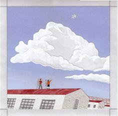 『沁みるほどに白く』 アクリル絵具・トレーシングペーパー 25cm×25cm