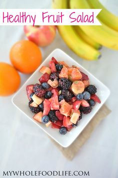 An Easy Fruit Salad that takes minutes to put together. Perfect for those spring and summer parties. #healthy #gltuenfree #fruit #fruitsalad