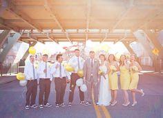 cute wedding party  Less sun