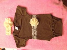 Lace onesie and headband $16
