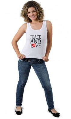 Camiseta Peace and love Paz e amor por apenas R$33.65