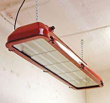 Ex Leuchte Industrie Design Neon Lampe Bunker Billard Fabriklampe antik orig EOW