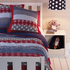 Blue Patchwork Quilted Bedcover
