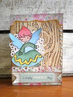 Fairy card using cute digi stamp
